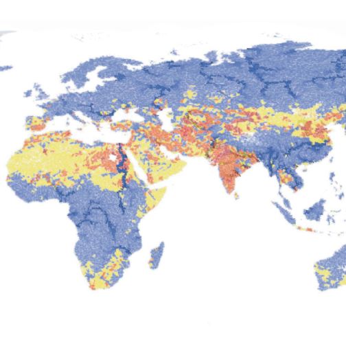 water depletion map